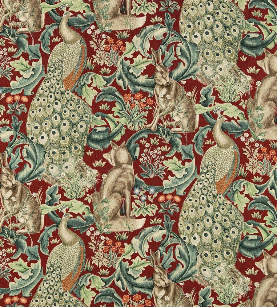 William Morris Forest Velvet Charcoal textil - Paisley Home