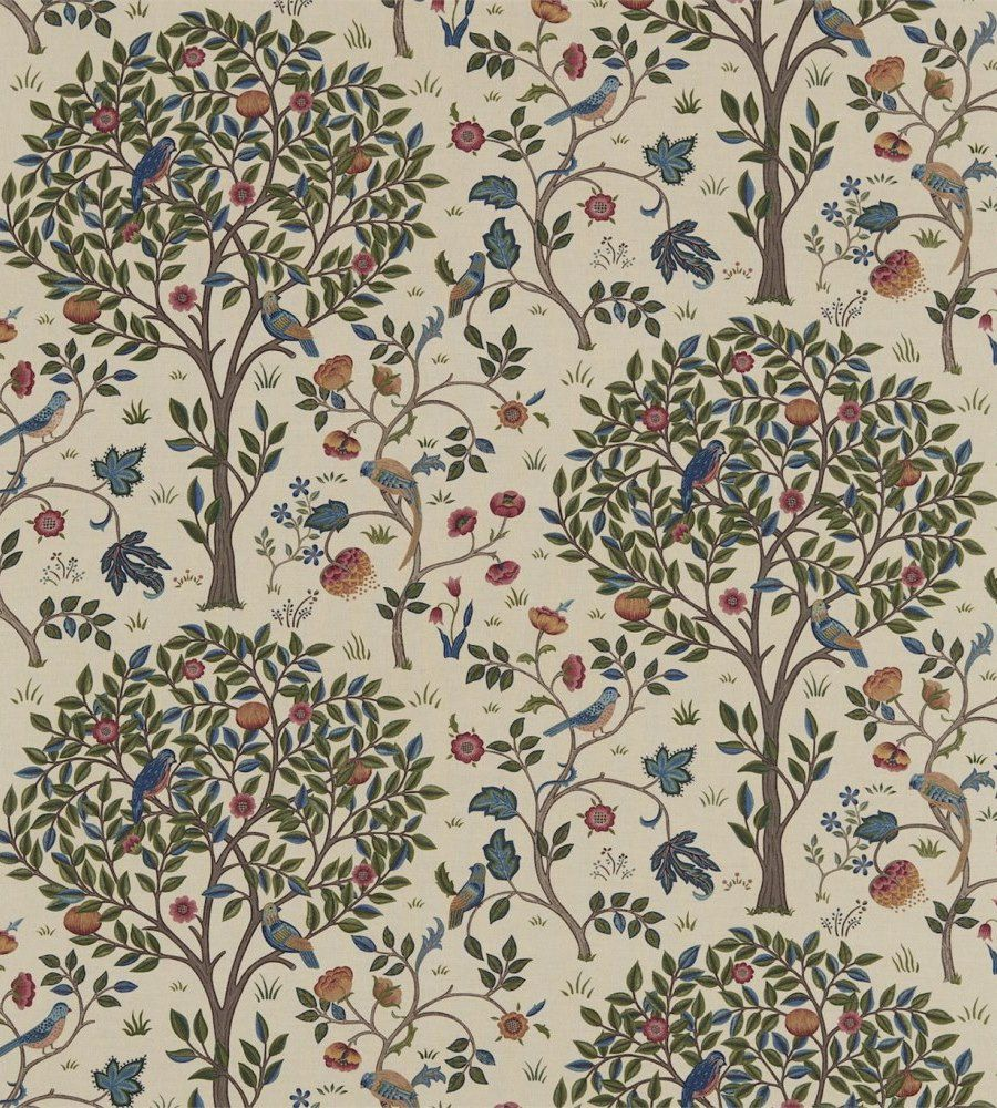 William Morris Kelmscott Tree Woad/Wine textil - Paisley Home