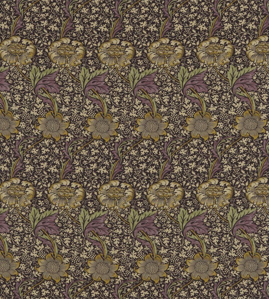 William Morris Kennet Grape/Gold textil - Paisley Home