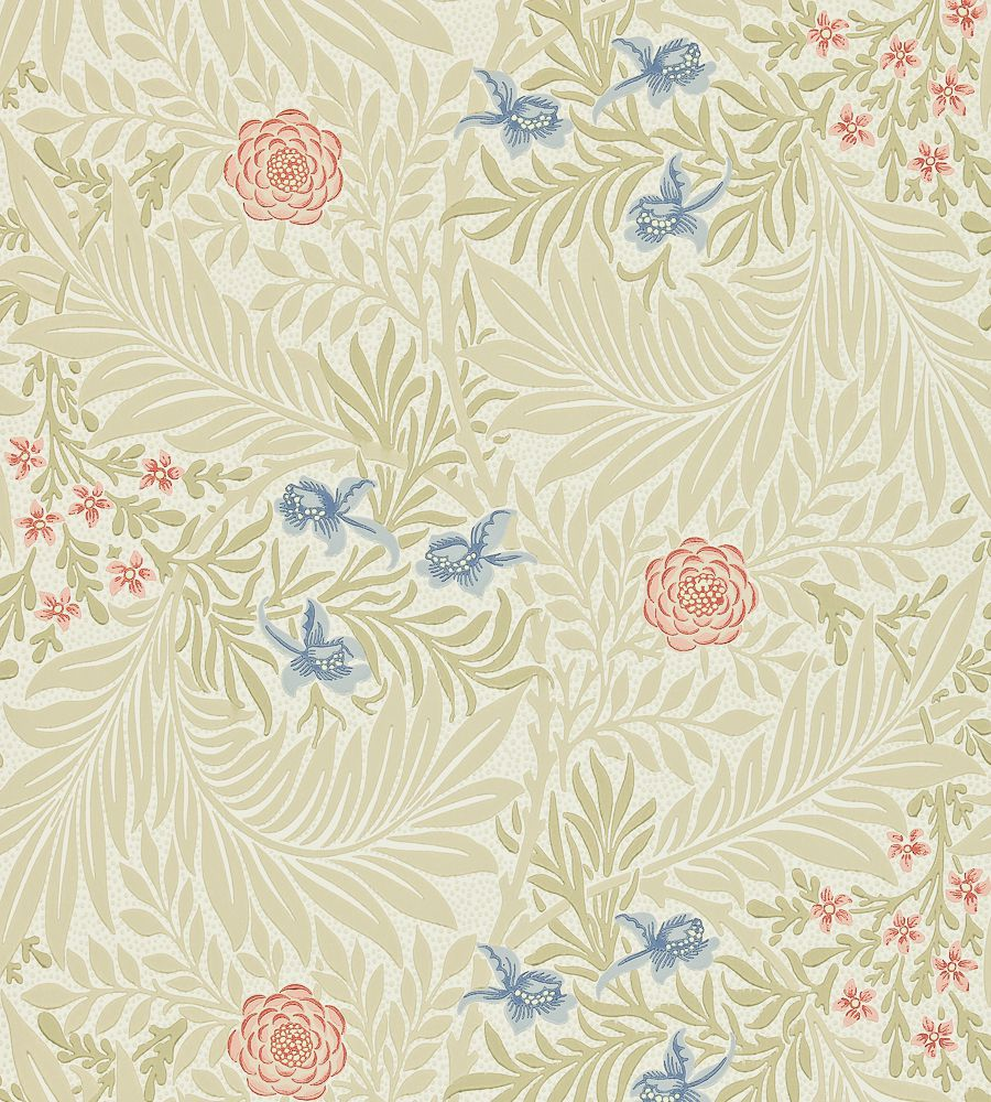 William Morris Larkspur Manilla/Old Rose tapéta - Paisley Home