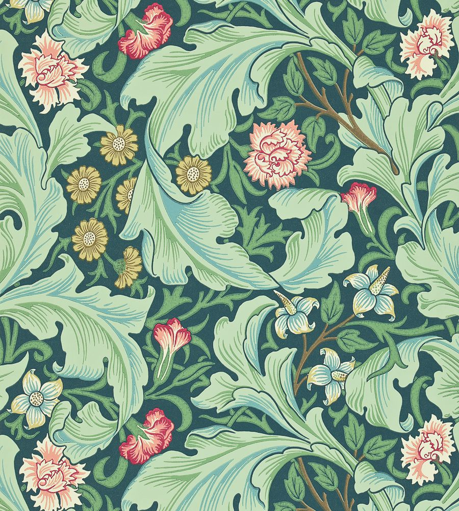 William Morris Leicester Woad/Sage tapéta - Paisley Home