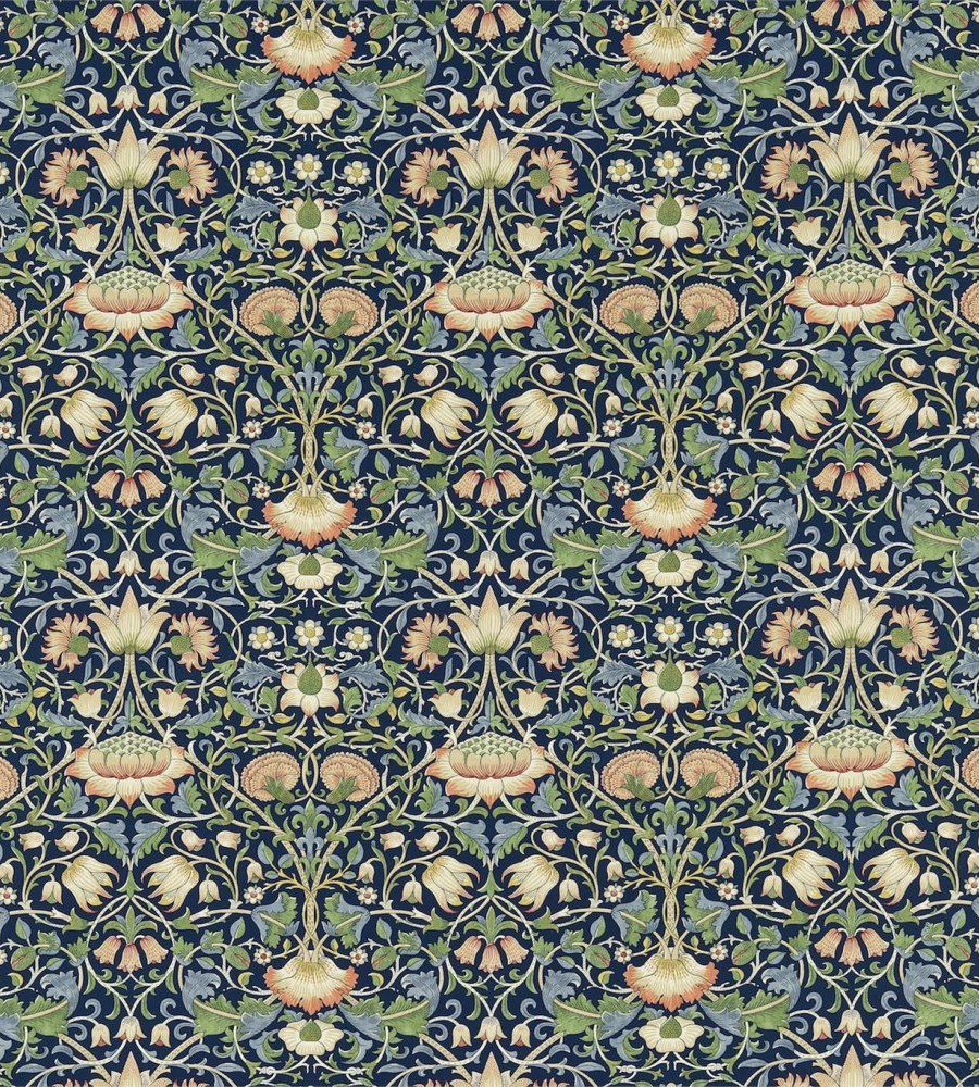 William Morris Lodden Indigo/Mineral textil - Paisley Home