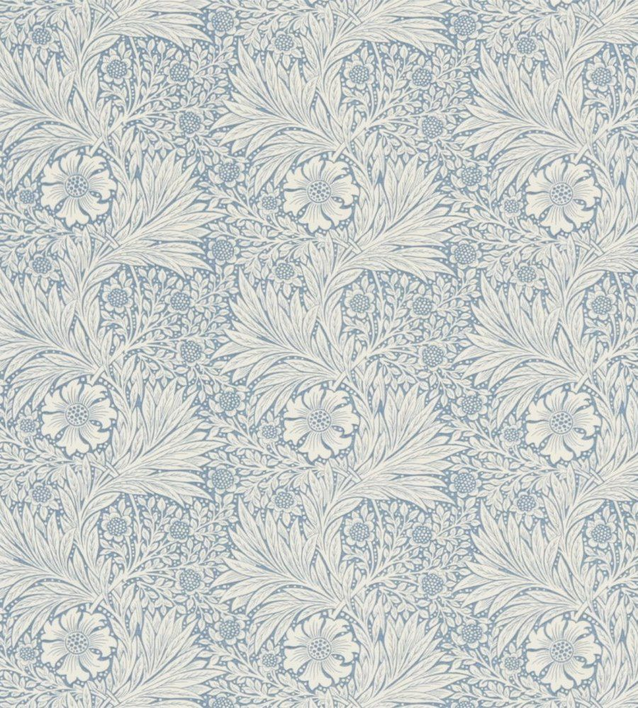 William Morris Marigold China Blue/Ivory textil - Paisley Home