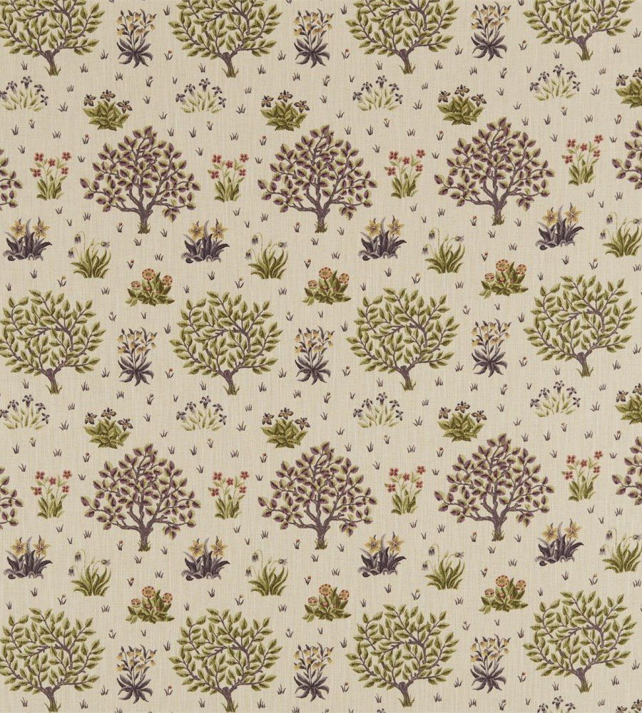 William Morris Orchard Mulberry/Olive textil - Paisley Home