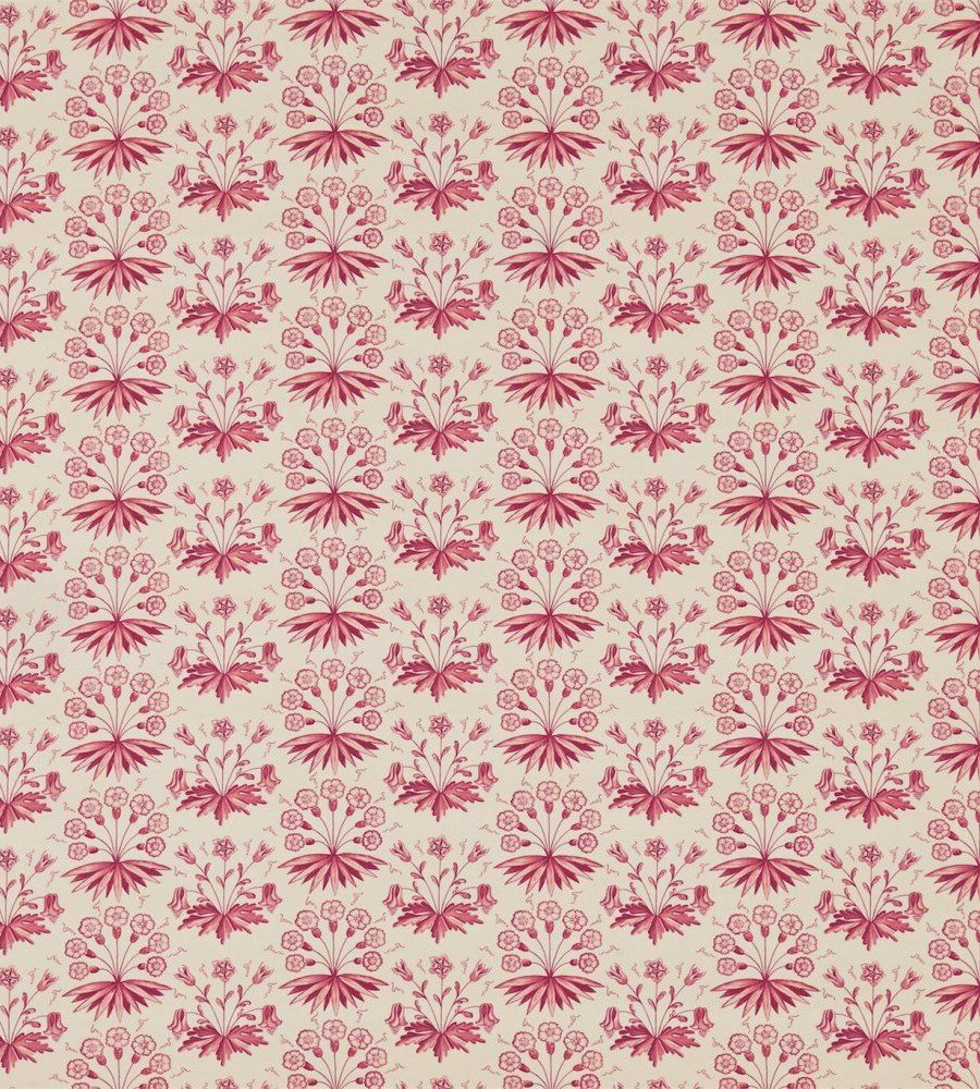 William Morris Primrose & Columbine Claret textil - Paisley Home