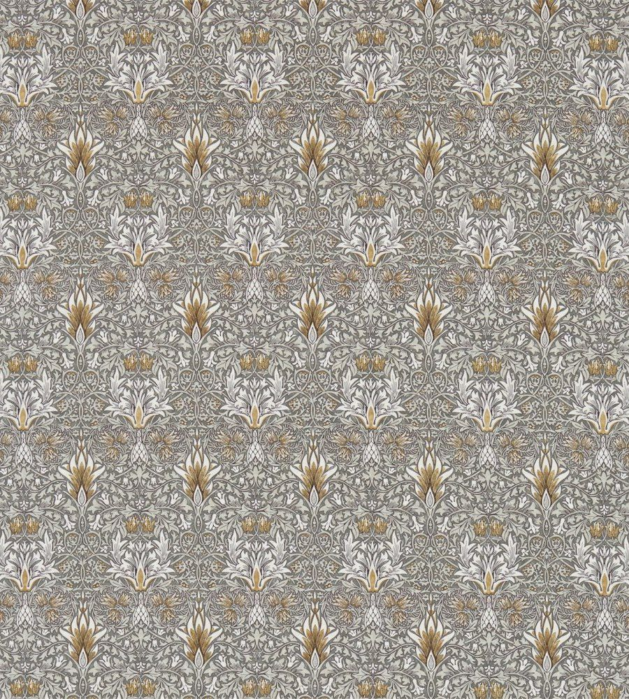 William Morris Snakeshead Pewter/Gold textil - Paisley Home