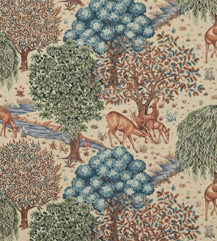 William Morris The Brook Tapestry Linen textil - Paisley Home