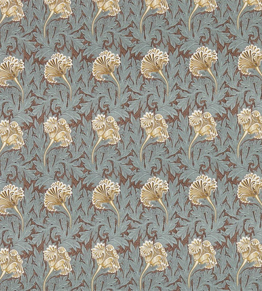 William Morris Tulip Green/Gold textil - Paisley Home