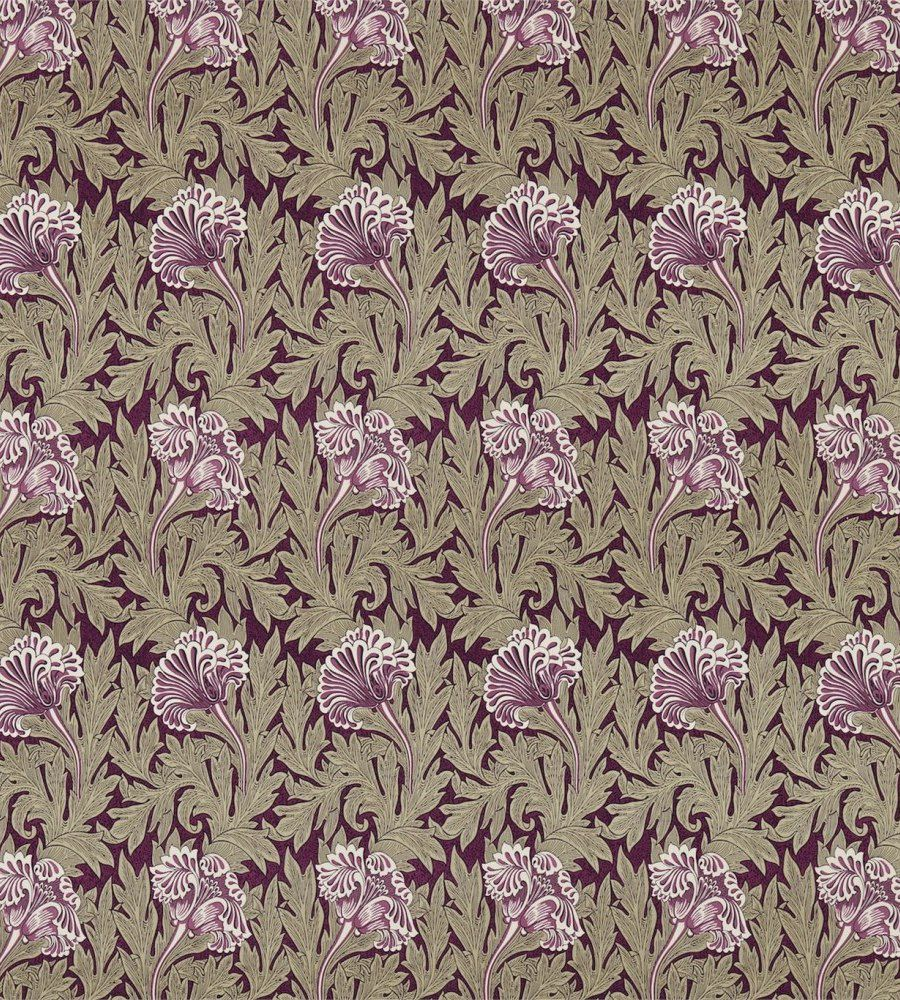 William Morris Tulip Heather/Olive textil - Paisley Home