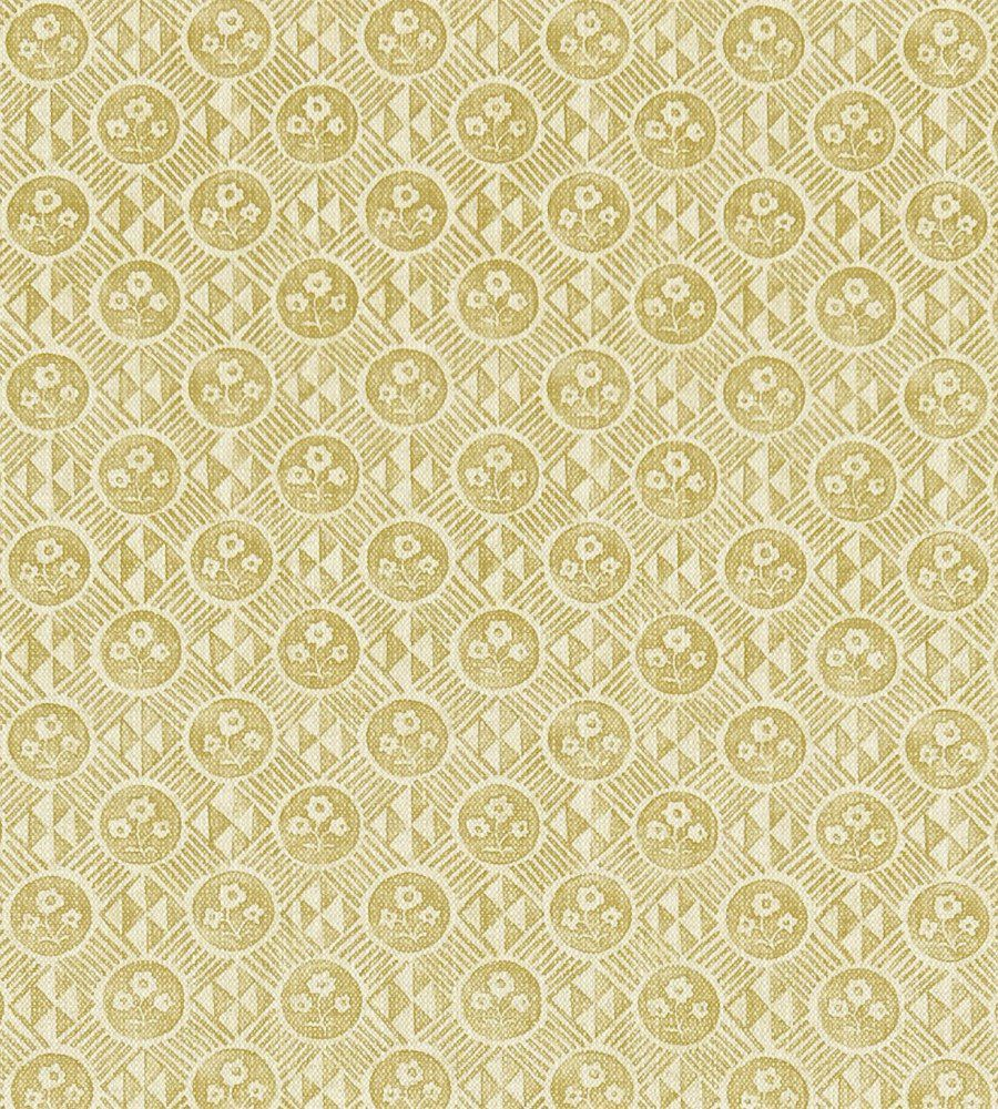 Zoffany Diamonds & Flowers Gold textil - Paisley Home