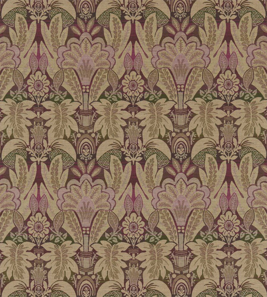 Zoffany Montrose Olive-Purple textil - Paisley Home